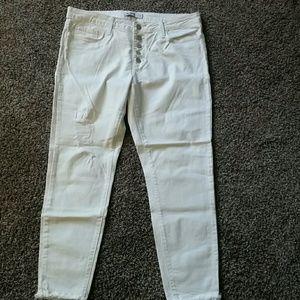 Just Black white denim jeans
